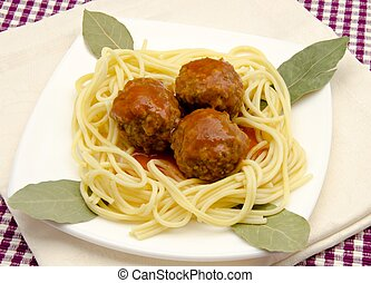 Spaghetti with Meatballs - Spaghetti with meatballs stew...