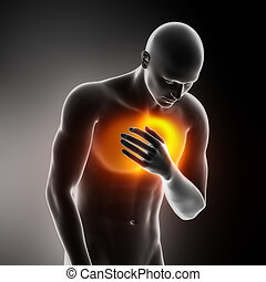 Heart-attack pain in chest