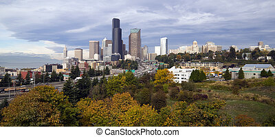 Seattle Panoramic - Seattle from Beacon HIll on a crisp fall...