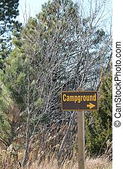 Campground Sign - Campground sign at state park