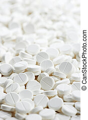 white round medicine tablet antibiotic pills - Pharmacy...