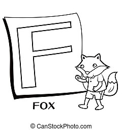 Coloring Alphabet for Kids, F