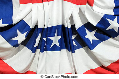 Red white and blue of Amercian flag - Bright and colorful...