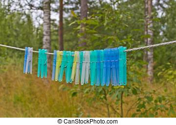 Seil, Wäscheklammern
