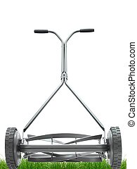 Push Mower - A push mower isolated against a white...