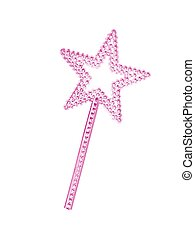 Princess Wand - A princess wand isolated against a white...