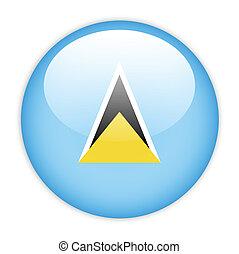 Saint Lucia flag button on white