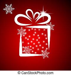 Christmas illustration with gift box 2.