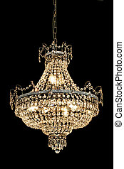 Luxury chandelier - Big luxury chandelier with lot of...