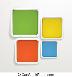 Abstract background of color boxes Template for a text