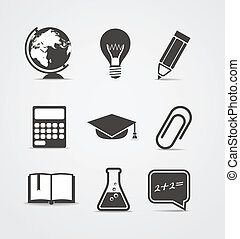 Abstract style icons set Education