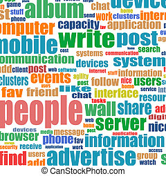 Business. Word collage on white background