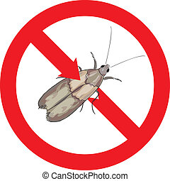 Moth pest is prohibited Vector illustration
