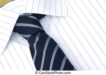 Shirt and tie. - Neatly shirt and tie close up.