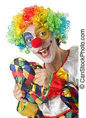 rigolote, clown, blanc