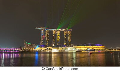 Timelapse - Singapore Marina Bay - Timelapse view of...
