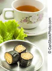 Chinese Dim Sum with tea