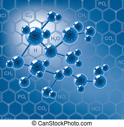 vector abstract molecule or microbe background