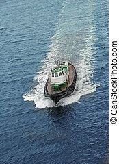 powerboat - boat floating in the sea at high speed