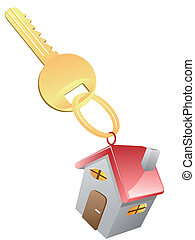House Key - isolated House Key on white background