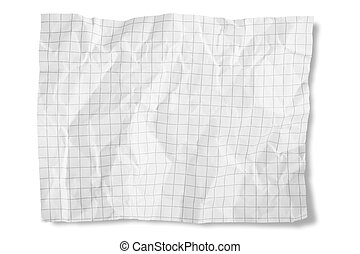 Paper Crumpled isolated on white