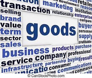 Goods poster design