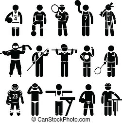 Sportswear Sports Attire Clothing - A set of pictogram...