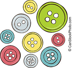 Illustration of colored buttons