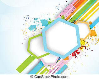 Abstract background with hexagons - Abstract background with...