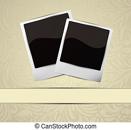 Background with photo frames