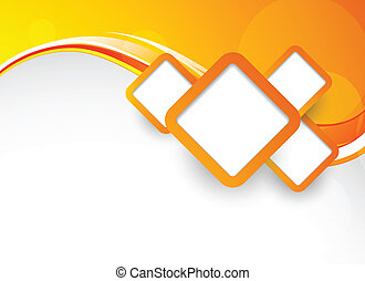 Background with squares - Bright orange background with...