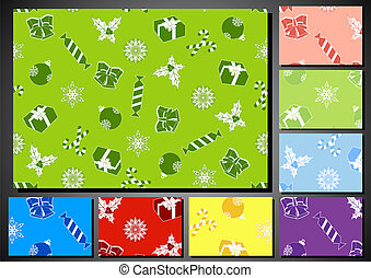 set of seamless backgrounds for Christmas