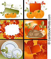 Thanksgiving Designs - Set of Thanksgiving deigns and...