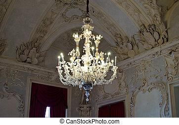 Old, elegant chandelier