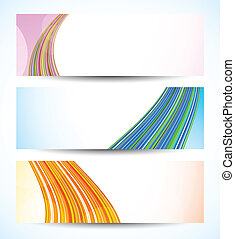 Set of tech banners Abstract colorful illustration