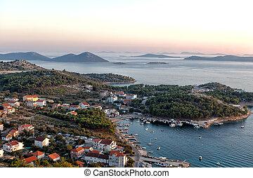 Adriatic coast at sunset