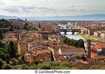 Florence bridges cityscape