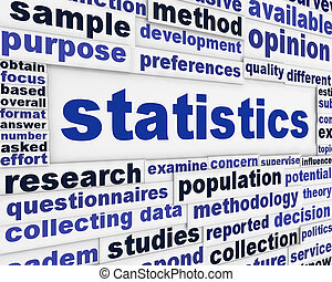 Statistics conceptual background. Scientific method poster...