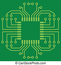 Printed Circuit Board - Illustration of Green Seamless...