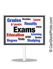 Exams concept - Exams and education concept on sign with...