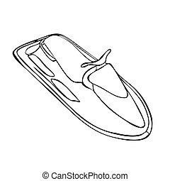 Isolated Jet-Ski on a white background. Vector illustration.