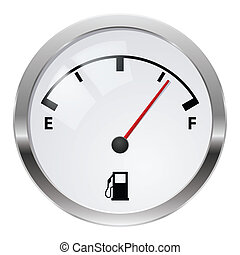 Fuel indicator. Illustration on white background for design
