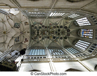 pointed vault of Saint Barbara church - Saint Barbaras...