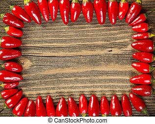 pimentas, vermelho