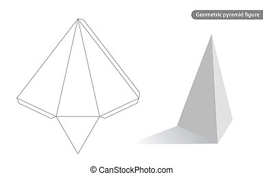 geometric pyramid figure for school