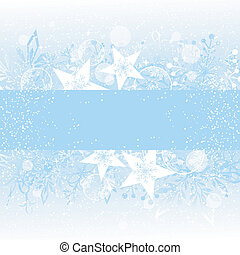 Christmas Greeting Card with Snowflake and Star
