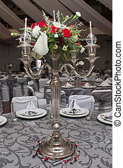 Center piece - A beautiful center piece on the table with...