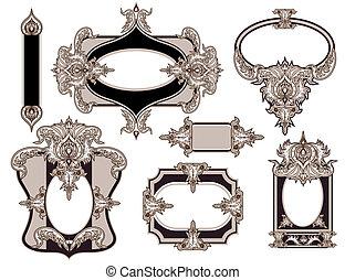 Retro frames set