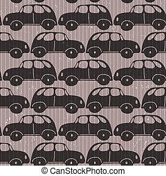 Seamless car  grungy wallpaper