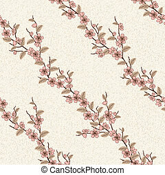 Vector seamless pattern with sakura